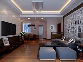 中式客厅沙发茶几设计案例展示