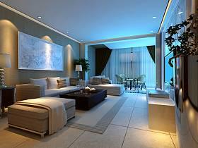 美式客厅沙发茶几装修案例