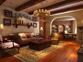 美式美式风格客厅背景墙沙发客厅沙发设计方案