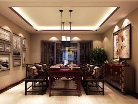 中式中式风格新中式餐厅吊顶设计图
