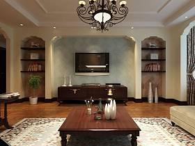 美式美式风格客厅背景墙电视背景墙效果图