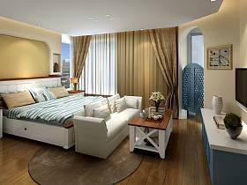 地中海卧室装修效果展示