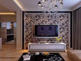 客厅电视背景墙灯具案例展示