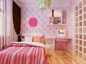 现代儿童房窗帘装修效果展示