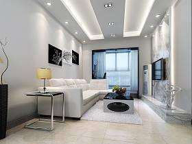 现代客厅沙发电视柜茶几设计方案