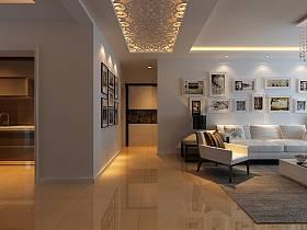 现代现代风格背景墙沙发案例展示