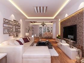 现代简约客厅电视墙设计案例展示