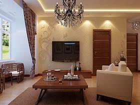 混搭现代混搭风格客厅装修案例