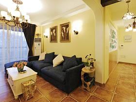 地中海混搭客厅沙发设计案例