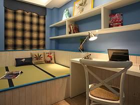 欧式简约书房榻榻米设计方案