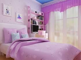 欧式儿童房窗帘效果图