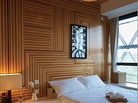日式卧室吊顶背景墙装修效果展示