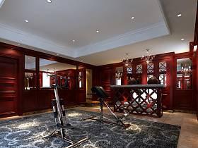 美式健身房装修案例