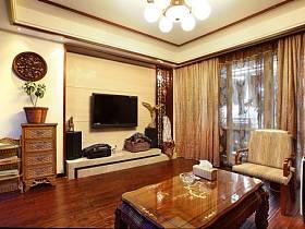中式中式风格客厅背景墙电视背景墙图片