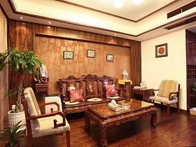 中式中式风格客厅背景墙沙发图片