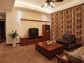 中式中式风格客厅窗帘设计案例展示