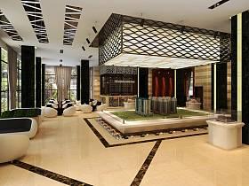 现代大厅售楼部设计方案