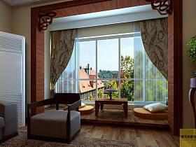 中式中式风格阳台设计图