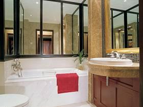 欧式浴室淋浴房效果图
