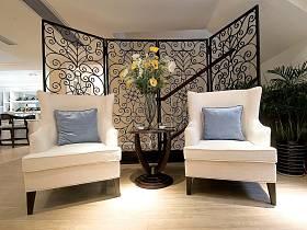 欧式背景墙沙发单人沙发案例展示