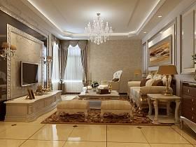 欧式客厅沙发茶几设计案例展示