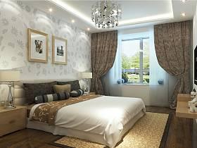 卧室吊顶窗帘案例展示