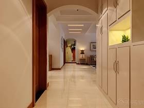 中式现代创意玄关玄关柜装修案例