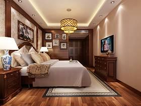 中式卧室电视柜卧室衣柜设计图