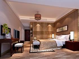 新中式卧室交换空间整体衣柜卧室衣柜效果图
