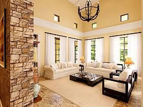 混搭客厅沙发茶几装修效果展示