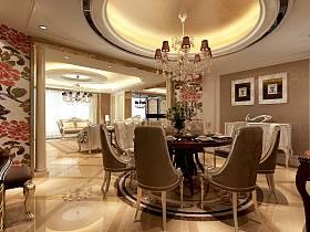 欧式豪华餐厅吊顶设计方案