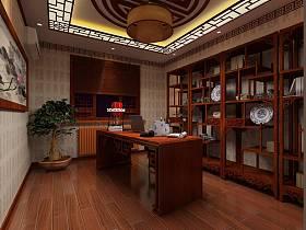 中式中式风格书房交换空间吊顶案例展示