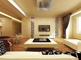 现代客厅沙发电视柜茶几电视背景墙效果图
