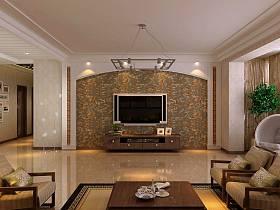 现代简约客厅沙发电视柜茶几电视背景墙设计案例