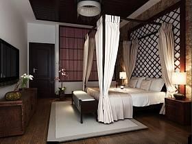 东南亚东南亚风格卧室吊顶案例展示