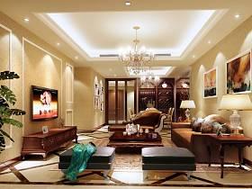 欧式简欧简欧风格客厅吊顶电视背景墙设计案例展示