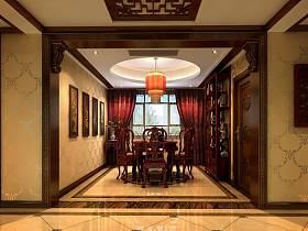 中式餐厅别墅装修效果展示