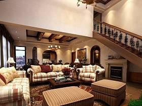 客厅别墅吊顶楼梯案例展示