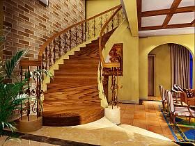 混搭别墅过道楼梯装修图