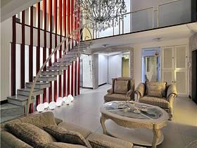 现代客厅别墅装修案例
