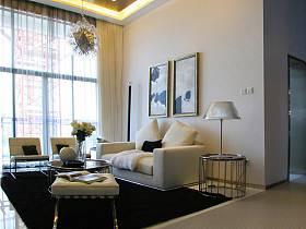 现代客厅跃层吊顶装修图