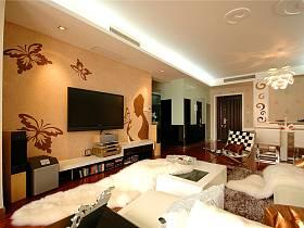 现代简约客厅电视背景墙设计图