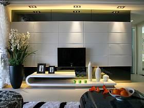 现代客厅电视墙效果图