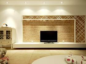 田园田园风格客厅电视背景墙电视墙装修图
