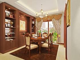 美式典雅美式风格餐厅设计案例展示