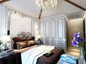 欧式卧室复式楼吊顶衣柜装修效果展示