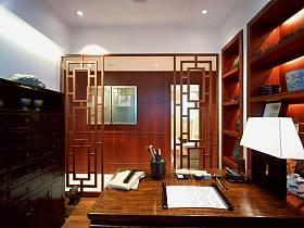 中式中式风格书房交换空间效果图