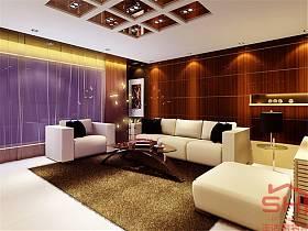 现代客厅沙发装修图