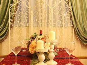 乡村风格餐厅别墅窗帘设计图