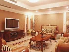 欧式客厅别墅吊顶电视柜电视背景墙图片